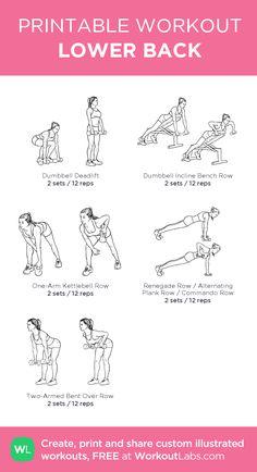 Week 1 & 2 (LOWER BODY): LOWER BACK Back Workout Women, Back Fat Workout, Back And Shoulder Workout, Shoulder Workout Women, Back Workout At Home, Chest Workout Women, Gym Workouts Women, Lifting Workouts, Week Workout