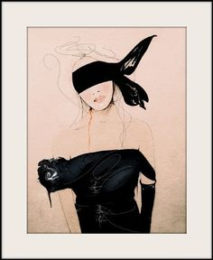 Lanvin2 SS/10 Fashion Illustration Art Print by LeighViner on Etsy, $28.00