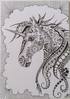 Unicorns Zentangle and Totem tattoo on Pinterest