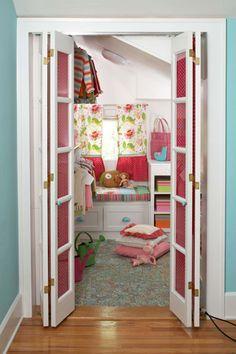 Walk-In Closet so cute!