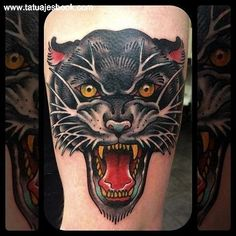 Resultado de imagen para pantera tattoo
