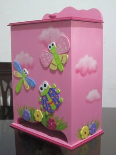 Decoupage, Kit Bebe, Arte Country, Diy Jewelry Inspiration, Pencil Holder, Diy For Girls, Handmade Home Decor, Girls Bedroom, Toy Chest