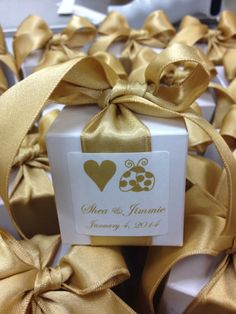 You're my Love Bug! Wedding Favors of B. toffee