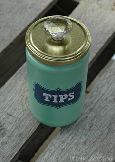 Recycled Laundry Room Tip Jar