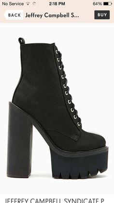 Jeffrey Campbell SYNDICATE PLATFORM BOOT #nastygal #boots #jeffreycampbell