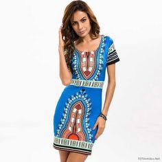 eab2e8e39360 HAOYUAN Summer Dashiki Dress for Women 2018 Casual Mini African Print  Sundress Ladies African femme Clothing Indian Dresses
