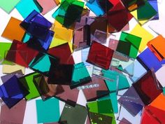 Mosaic Tile Mania - The world's largest selection of hand cut, stained glass mosaic tiles & mosaic supplies. Glass Mosaic Tiles, Mosaic Art, Mosaic Windows, Mosaic Mirrors, Mosaic Garden, Stained Glass Art, Fused Glass, Mosaic Supplies, Art Supplies