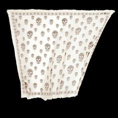 IVORY/BLACK SKULL PASHMINA- Alexander McQueen. i have to have one before i die