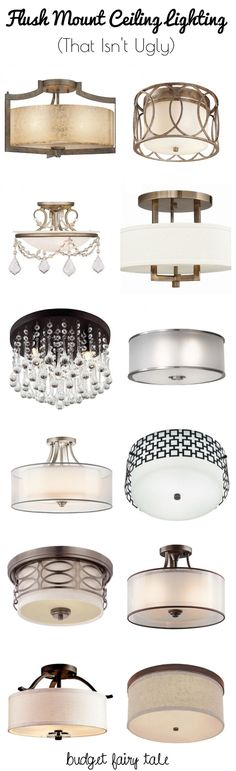 #ad Decorating our Castle: Seeking Flush Mount Lighting Options that Aren't Ugly