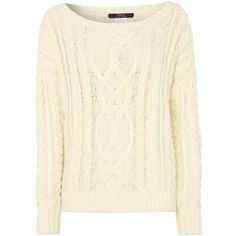 Polo Ralph Lauren Cable knitted long sleeve jumper ($195) ❤ liked on Polyvore featuring tops, sweaters, shirts, jumper, cream, sale, white long sleeve shirt, white shirt, cotton cable knit sweater and white sweater