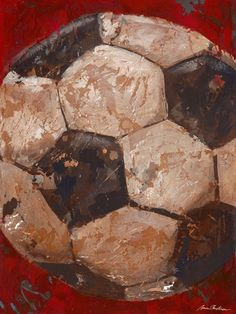 vintage soccer canvas. I can see this done in torn paper. Can't you?