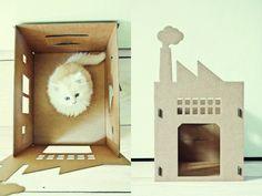 http://www.kekamsterdam.com/cardboard-cribs-for-cats