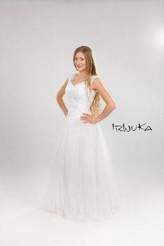 Bohemian Dress Petticoat & Boning Beaded Embrodery  by Irinuka