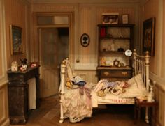 Normally I don't like dolls but she is very realistic. Beautiful dollhouse bedroom