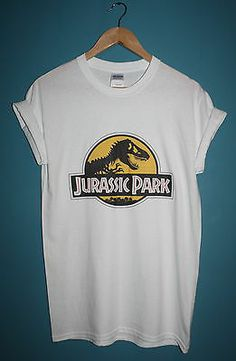*NEW* JURASSIC PARK DINO LOGO T-SHIRT * 90S VINTAGE INDIE HIPSTER * ALL SIZES