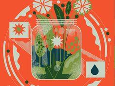Spring designed by Adam Koon. Connect with them on Dribbble; House Illustration, Digital Illustration, Illustration Styles, Vintage Graphic Design, Spring Design, Commercial Art, Art Sketchbook, Botanical Art, Art Inspo