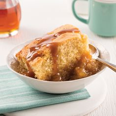 Pouding chômeur à l'érable - Les recettes de Caty 200 Calories, Pudding Chomeur, Biscuits Graham, Beignets, Apple Pie, Coco, French Toast, Muffins, Sweet Treats