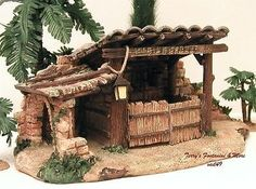 "FONTANINI ITALY 5""ANIMAL CORRAL w/SWINGING DOORS NATIVITY VILLAGE BLDG 54303 MIB"