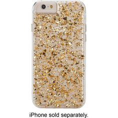 Case-Mate - Karat Case for Apple® iPhone® 6 - Clear/Gold - Alternate View 1 $50 Best Buy