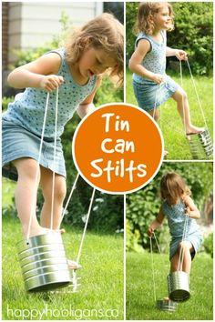 Tin Can Stilts - Classic Childhood Activity - Happy Hooligans