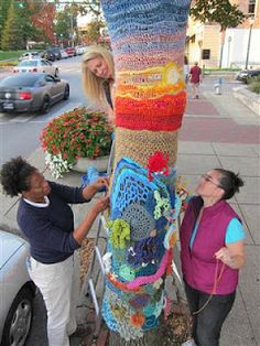 Wires & Yarns: Knitting to Heal - Yarn Bombing - My Tree