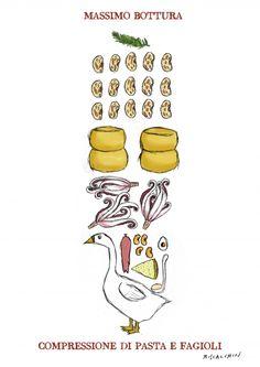 Compressione di pasta e fagioli  Il piatto storico di Massimo Bottura presentato a Identità Milano 2012 per festeggiare le Tre Stelle