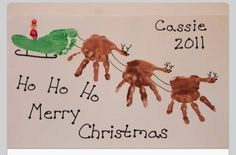 Kids christmas craft hands and feet