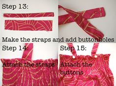 The ever-popular Baby Sunsuit Tutorial ** I couldn't let yet ANOTHER summer go by without updating this oldie-but-goodie tutorial! I hope you'll enjoy this sunsuit tutorial, new and improved! **This is an update to the. Baby Bonnet Pattern Free, Elastic Thread, Buttonholes, Free Reading, Baby Patterns, Sewing Projects, How To Draw Hands, Popular, How To Make