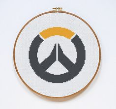 Overwatch Logo Counted Cross Stitch Pattern by DazzlingDoilies