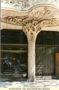 Tree - carrer d'Ausias Mac, Barcelona, Spain. Designed by Viollet le Duc, one of the main inspirations of the Art Nouveau movement.