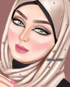 3d Art Drawing, Cute Girl Drawing, Art Drawings, Drawing Portraits, Bff Images, Muslim Photos, Barbie Wedding Dress, Anime Muslim, Digital Art Girl