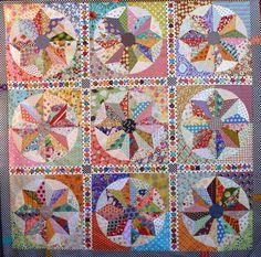 Scrappy Windmills quilt pattern