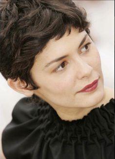 French actress - Audrey Tatou's pixie cut