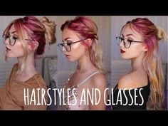 Hair and glasses can be a tricky combo. But not today. Here are 3 different, extra easy hair dos that just think look spectacular (hah specs) with yo. Short Hair Glasses, Bangs And Glasses, Hairstyles With Glasses, Hairstyles With Bangs, Diy Hairstyles, Hair Styles For Glasses, Big Glasses, Easy Hairstyle Video, Easy Hairstyles For Long Hair