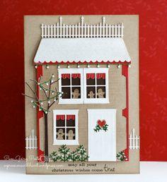 PamSparksGingerbreadHouseLanternFront   Memory Box, poppystamps, Christmas