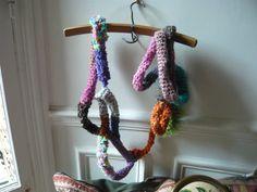 hand made crochet scarf par lamamadesmatous sur Etsy, $50.00