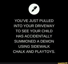 The child demands that the demon play pretend with him