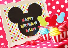 Mickey Mouse Party Birthday Printable - Inspired by Mickey Mouse Clubhouse by Amanda's Parties TO GO. $19.00, via Etsy.