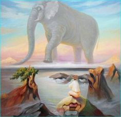 These amazing optical illusions have been created by Ukrainian artist Oleg Shuplyak.Merging portraits of famous figures from art and fiction with landscapes and images from nature, his work requires a. Optical Illusion Paintings, Amazing Optical Illusions, Art Optical, Oleg Shuplyak, Double Sens, Street Art, Hidden Images, Hidden Figures, Image Painting
