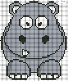 X-Stitch Magic: Hippo pattern