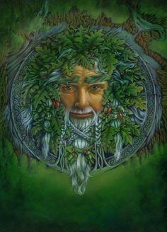 Druids Trees:  #Green #Man.