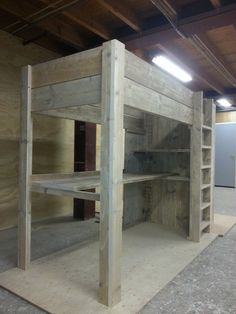 """Hoogslaper met kast - boekenkast en bureau """"Noud"""" - jl-meubelmaatwerk"""