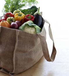 Skip the plastic and follow our directions to make your own eco-friendly reusable grocery bags that will last for years.