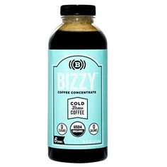Bizzy Cold Brew Coffee Concentrate - 6 Servings - USDA Or...
