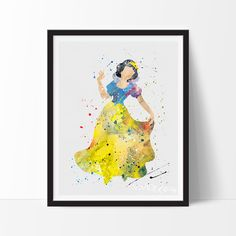- Description - Specs - Processing + Shipping - Create your own sparkle with this girly girl decor art print. This oh-so-chic and unique design in our impressionistic + splatter watercolor style is la
