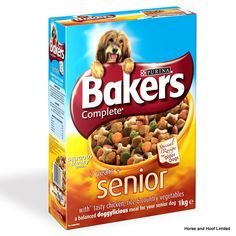 Bakers Complete with Chicken Senior Dog Food Bakers Complete with Chicken Senior has been designed for dogs as they begin to show the first signs of ageing.
