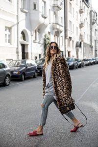 leopard faux fur coat | gucci lOAFERS | LUIS vuitton bag