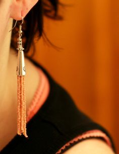 MAKE | How-To: Tassel Earrings using seed beads and cone ends