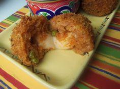 Cheesy Mexican Rice Balls