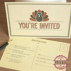 free printable thanksgiving invitations